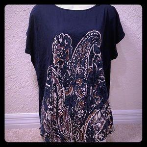 🔴5/$15 Chaps Blue Print Shirt XL